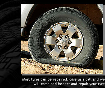 Most tyres can be repaired. Give us a call and we will come and inspect and repair your tyre